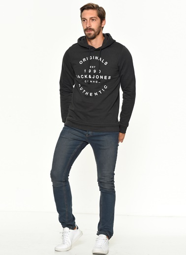 Jack & Jones Kapüşonlu Sweatshirt Gri